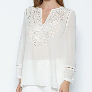 NWT Joie Porcelain White Serna Silk Blouse XS